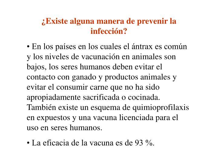 ¿Existe alguna manera de prevenir la infección?