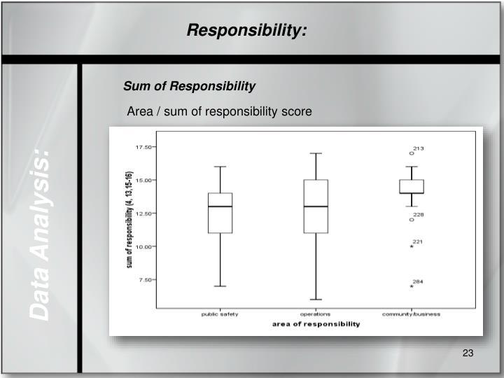 Responsibility: