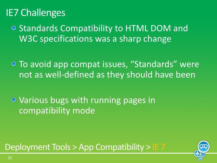 IE7 Challenges