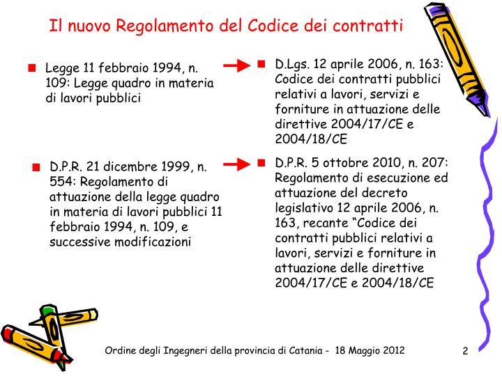 Il nuovo Regolamento del Codice dei contratti