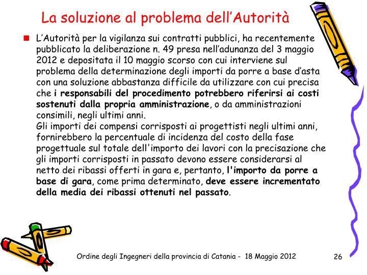La soluzione al problema dell'Autorità