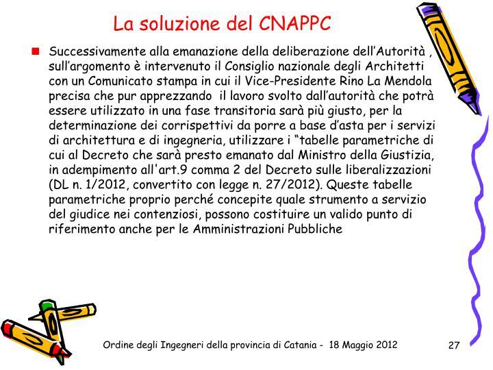 La soluzione del CNAPPC