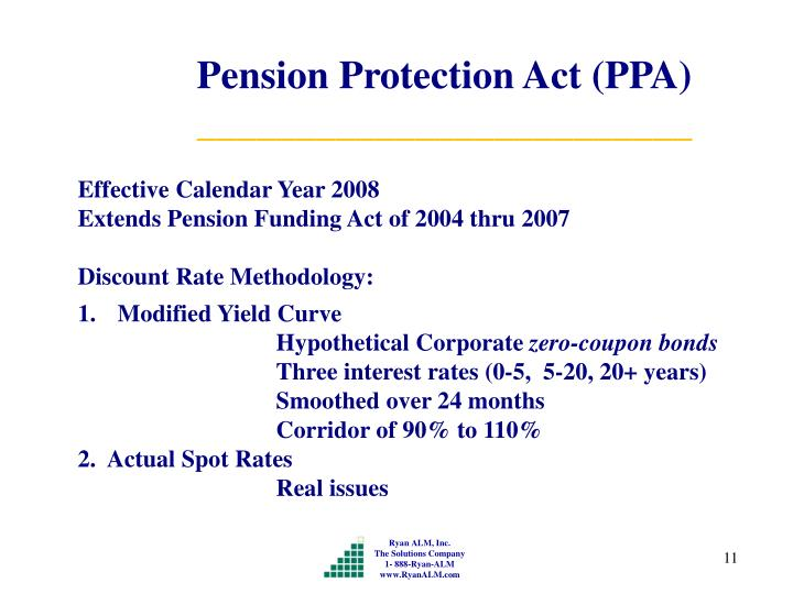 Pension Protection Act (PPA)
