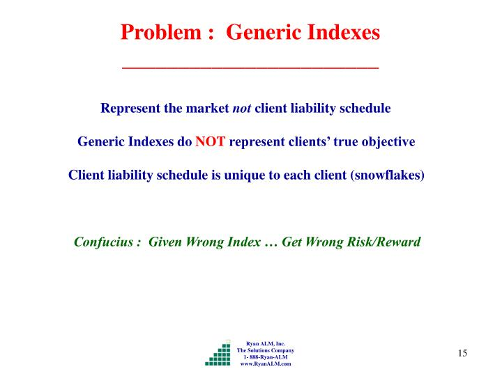 Problem :  Generic Indexes