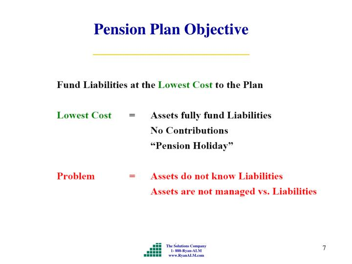 Pension Plan Objective