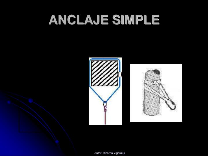 ANCLAJE SIMPLE