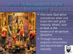 bhakti is the solution to higher achievements