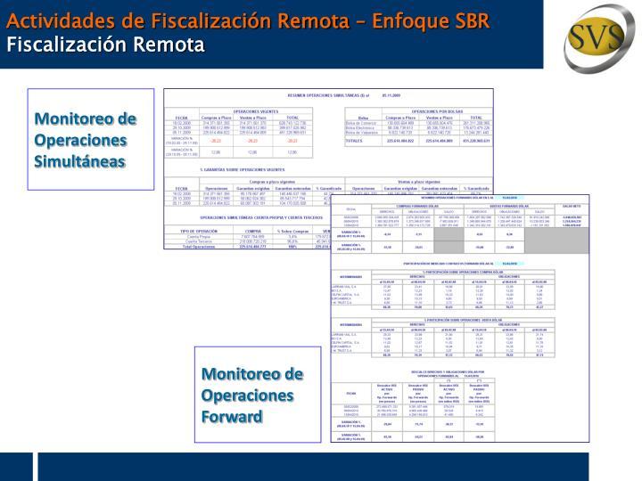 Actividades de Fiscalización Remota – Enfoque SBR