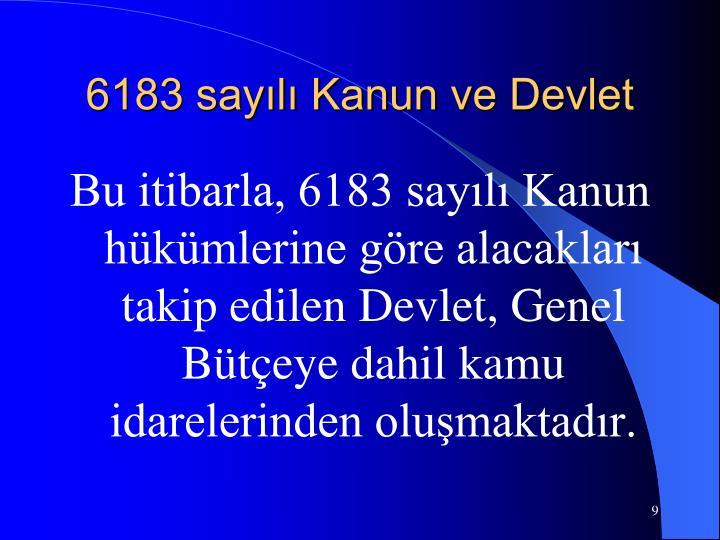 6183 sayılı Kanun ve Devlet