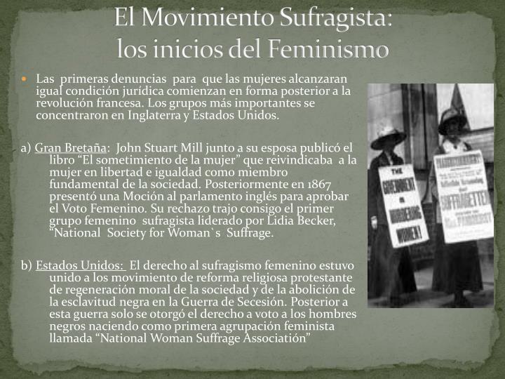 El Movimiento Sufragista: