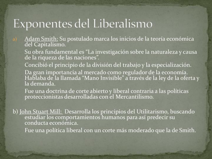 Exponentes del Liberalismo
