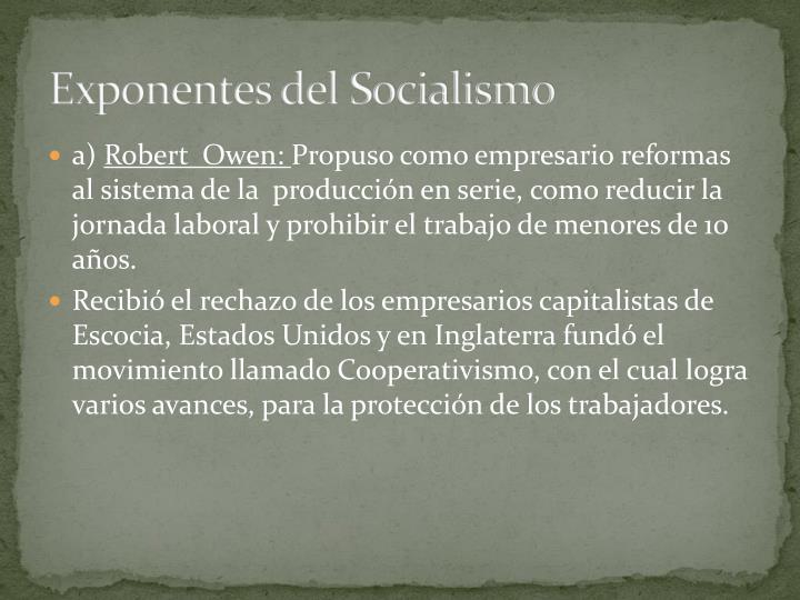 Exponentes del Socialismo