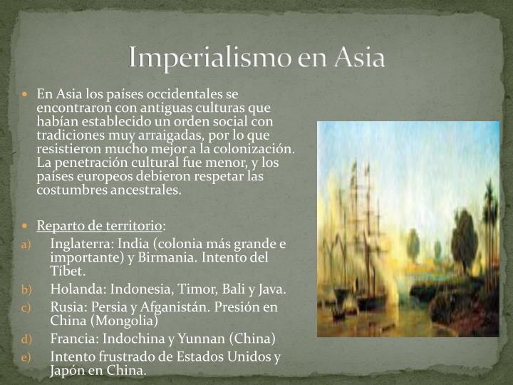 Imperialismo en Asia