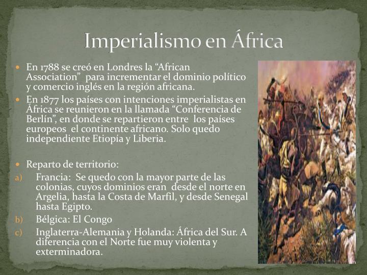 Imperialismo en África
