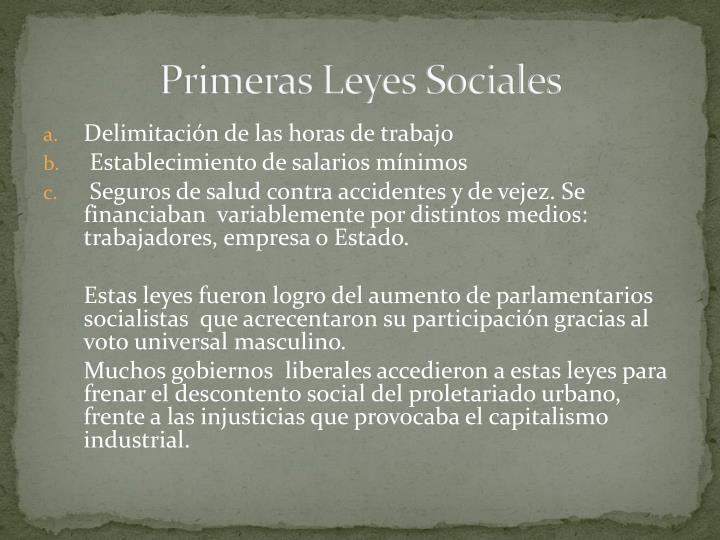Primeras Leyes Sociales