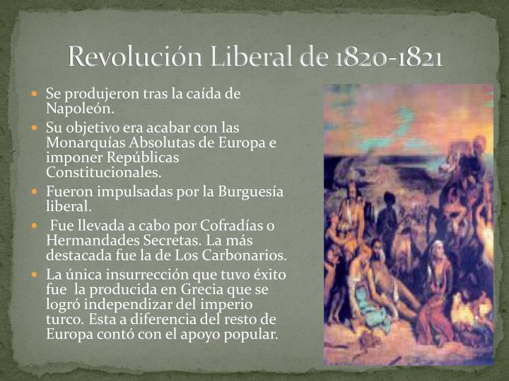 Revolución Liberal de 1820-1821