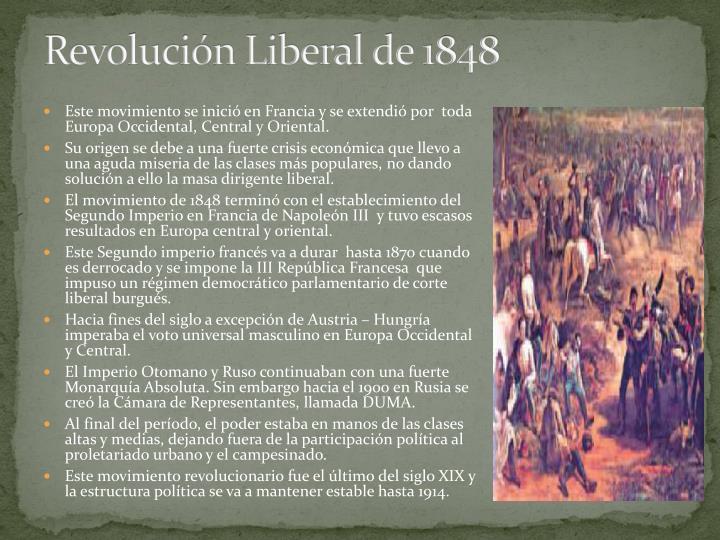 Revolución Liberal de 1848