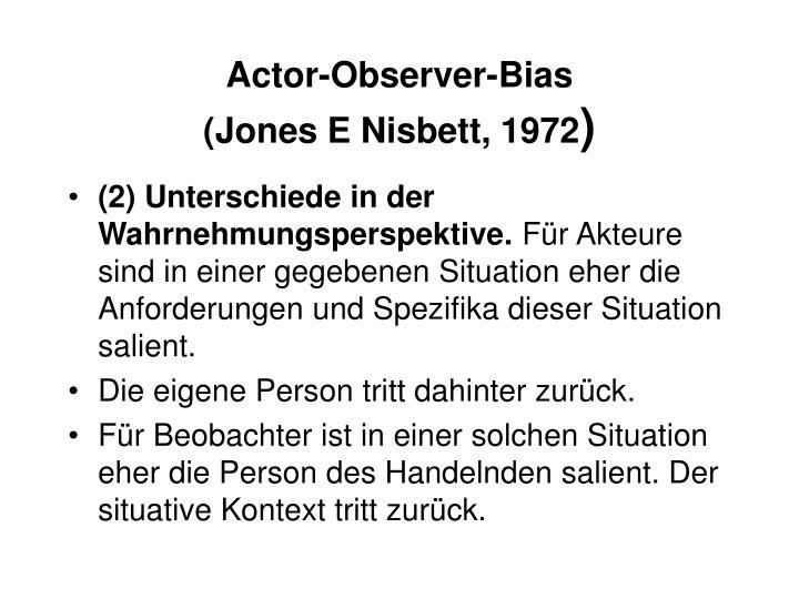 Actor-Observer-Bias