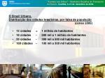 o brasil urbano distribui o das cidades brasileiras por faixa de popula o censo 2000