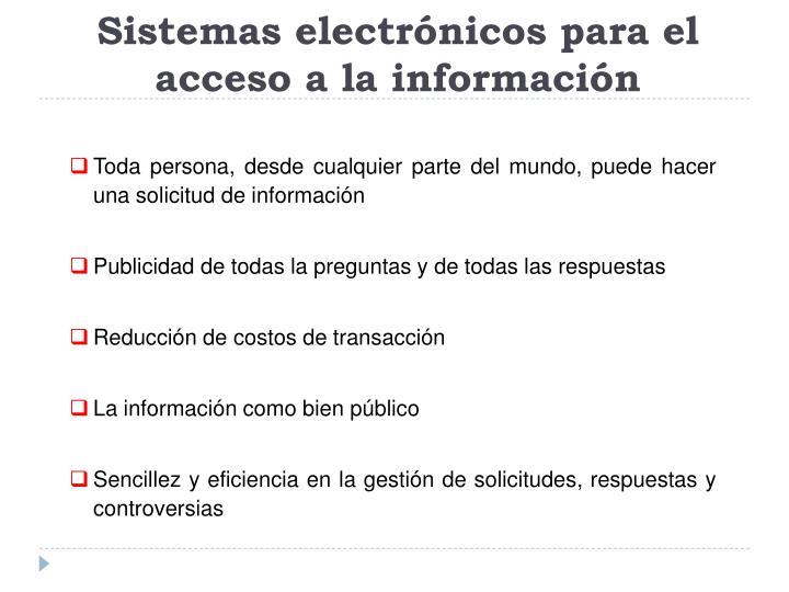 Sistemas electrónicos para el acceso a la información