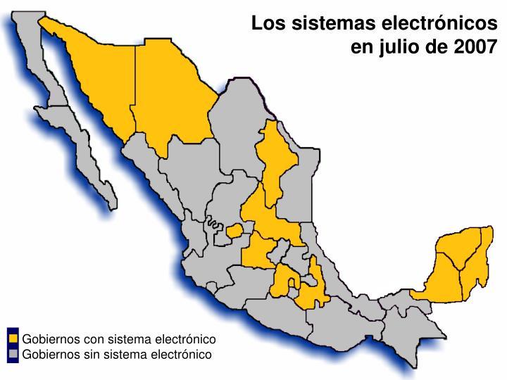 Los sistemas electrónicos en julio de 2007