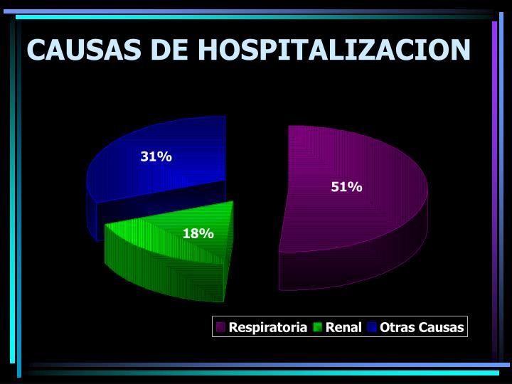 CAUSAS DE HOSPITALIZACION