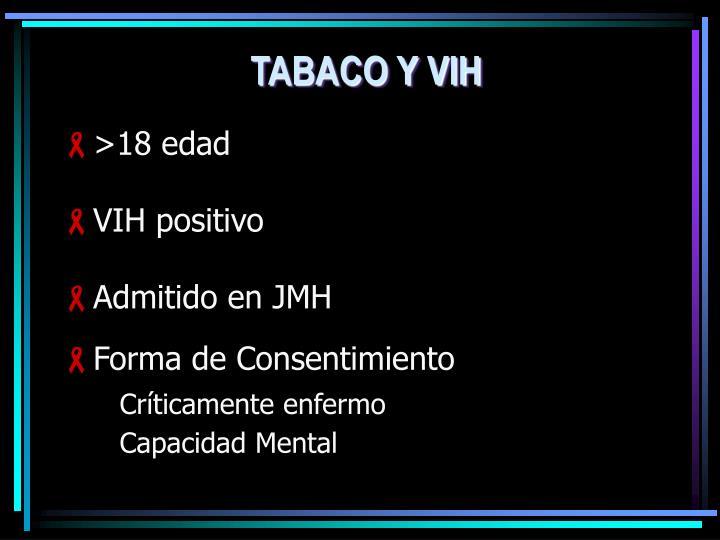 TABACO Y VIH