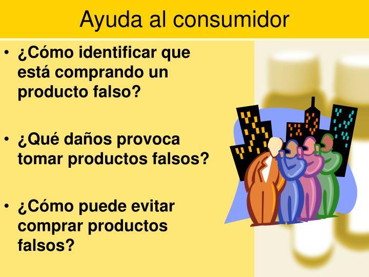 Ayuda al consumidor