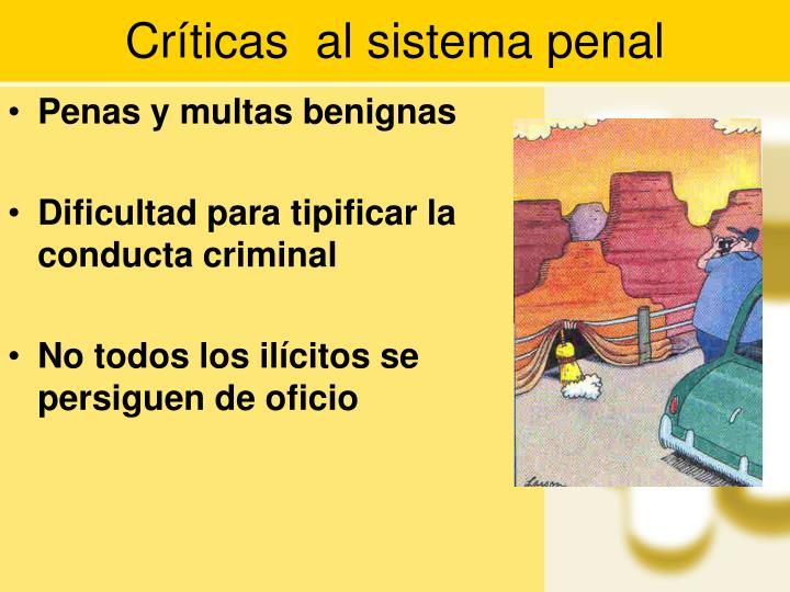 Críticas  al sistema penal