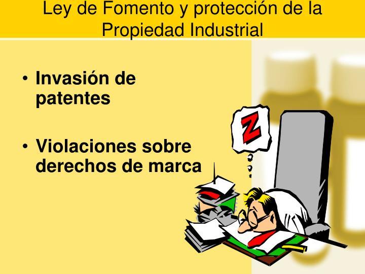 Ley de Fomento y protección de la Propiedad Industrial