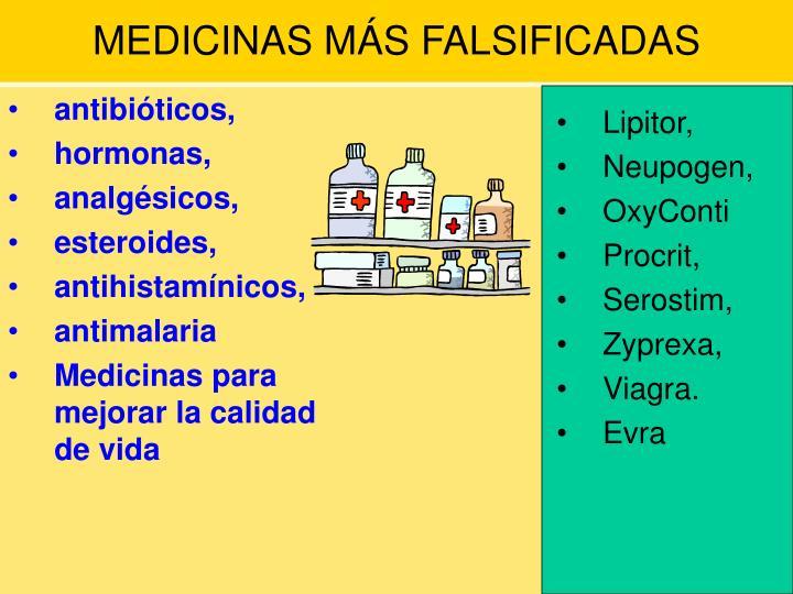 MEDICINAS MÁS FALSIFICADAS