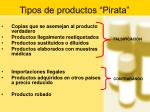 tipos de productos pirata
