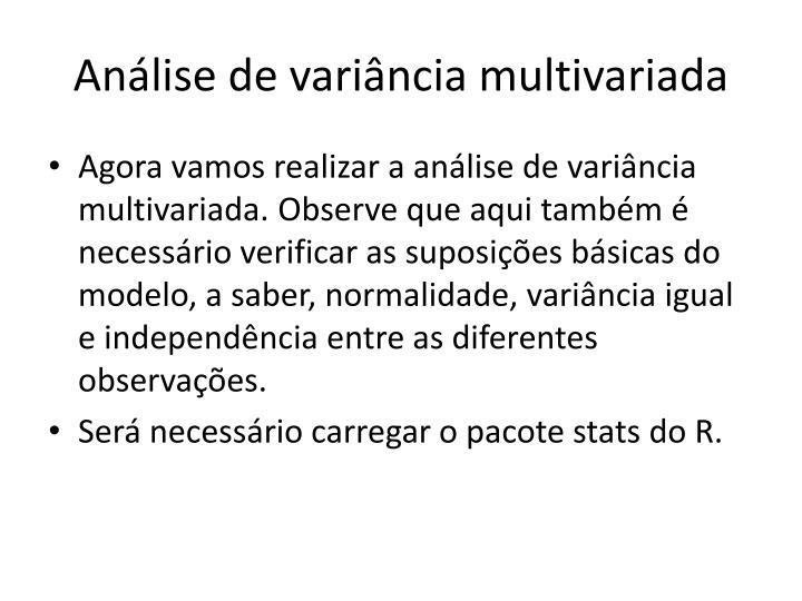 Análise de variância multivariada