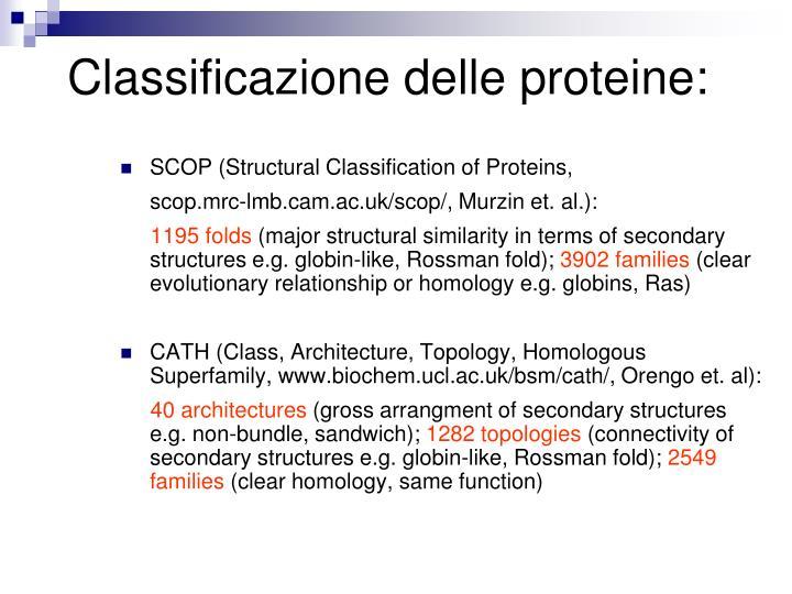 Classificazione delle proteine: