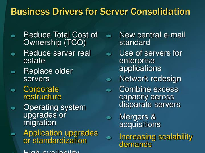 Reduce Total Cost of Ownership (TCO)