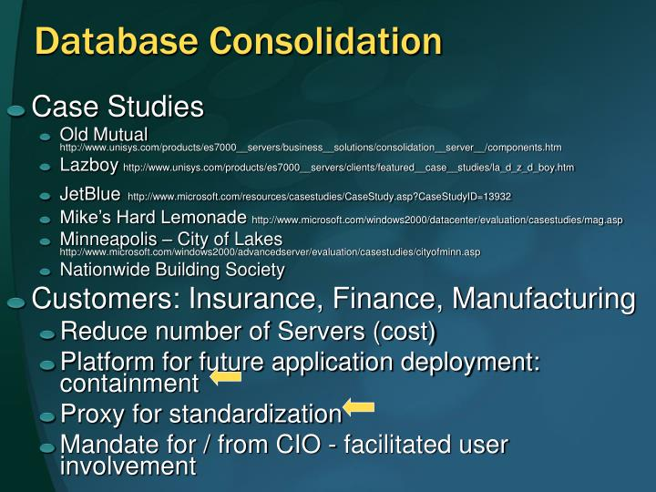 Database Consolidation