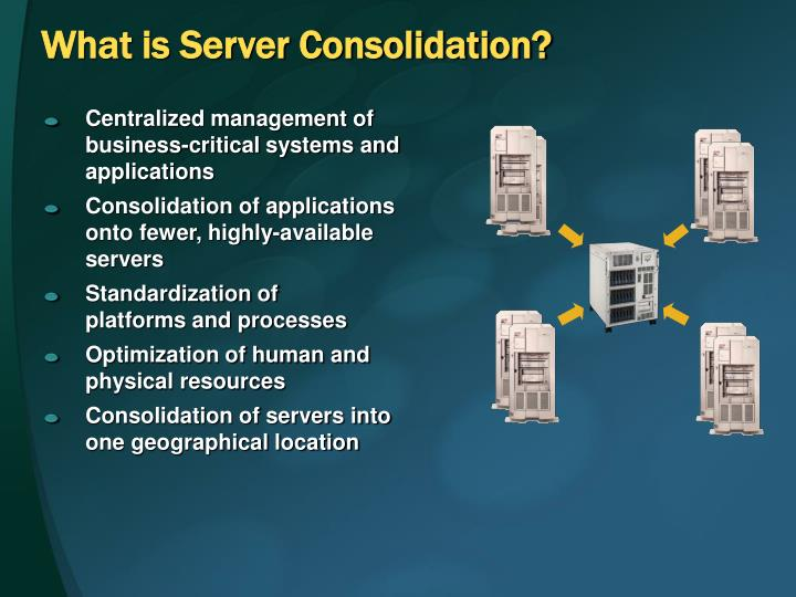 What is server consolidation