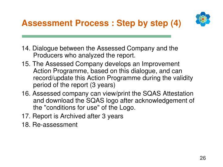 Assessment Process : Step by step (4)