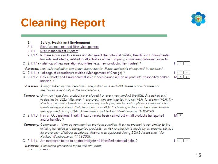 Cleaning Report