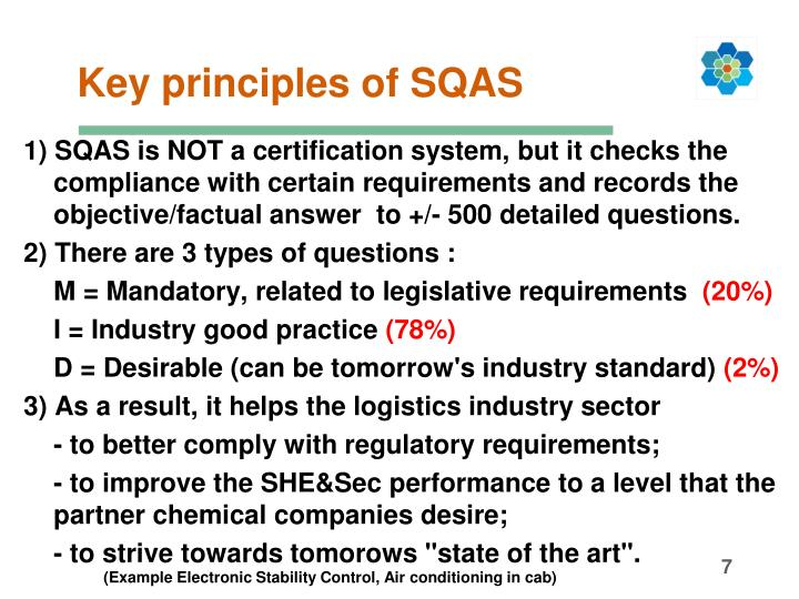 Key principles of SQAS