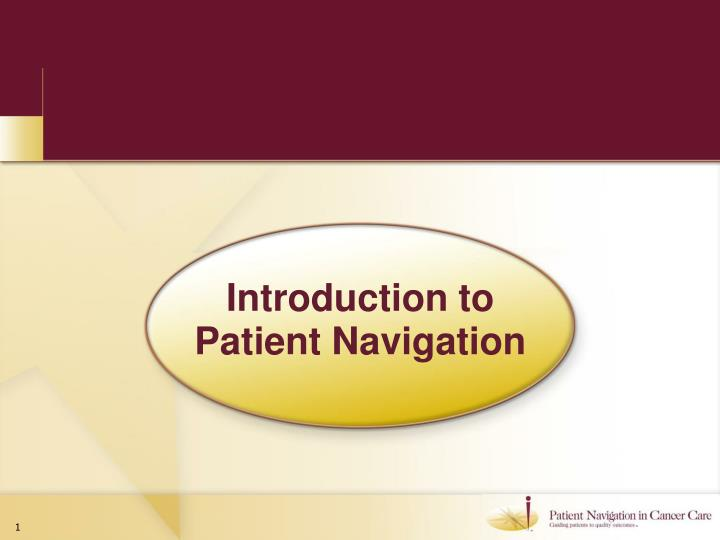 Introduction to patient navigation