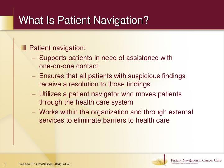What is patient navigation