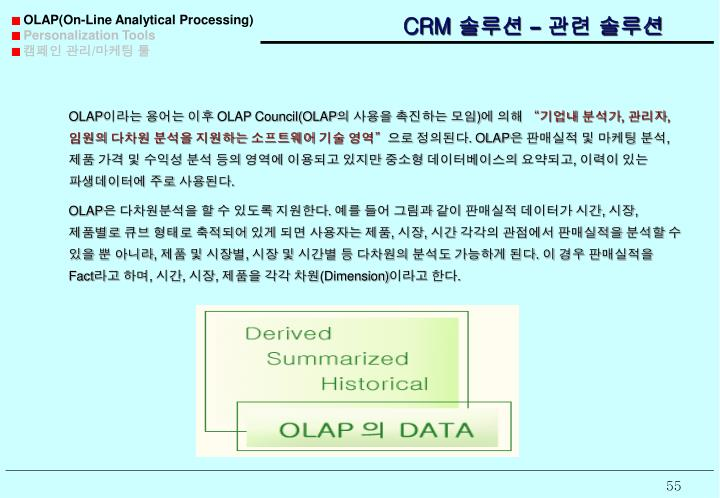 OLAP(On-Line Analytical Processing)
