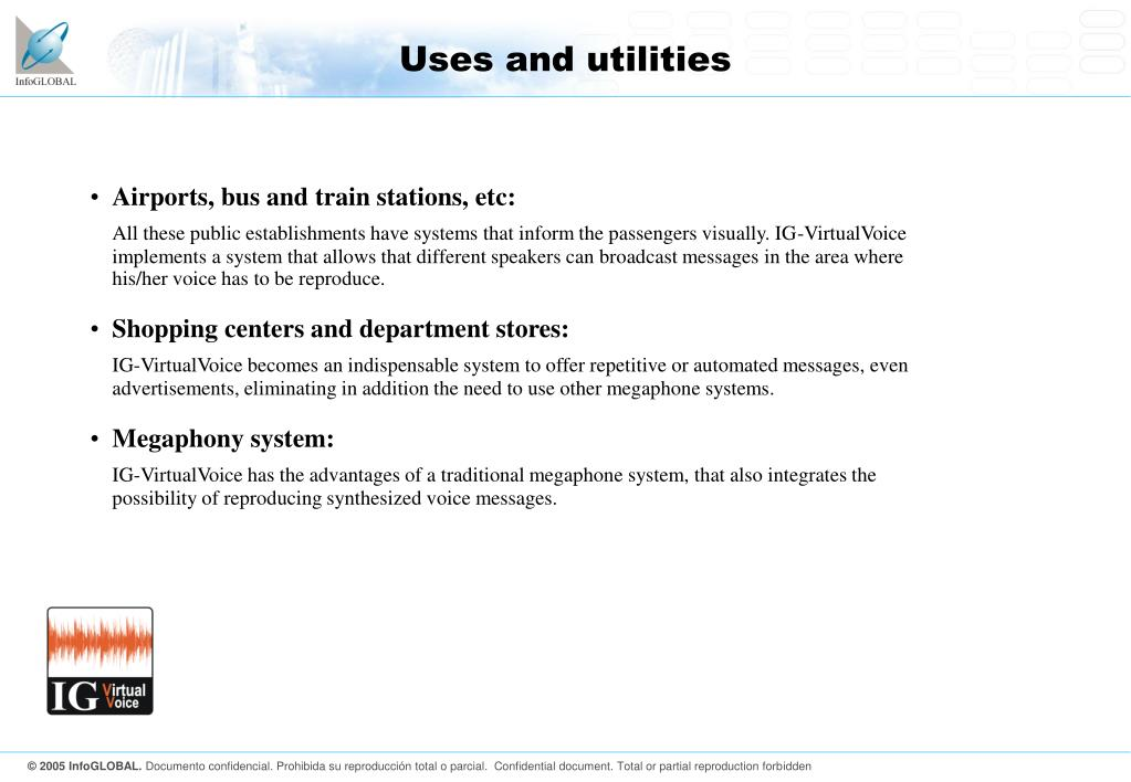 Uses and utilities