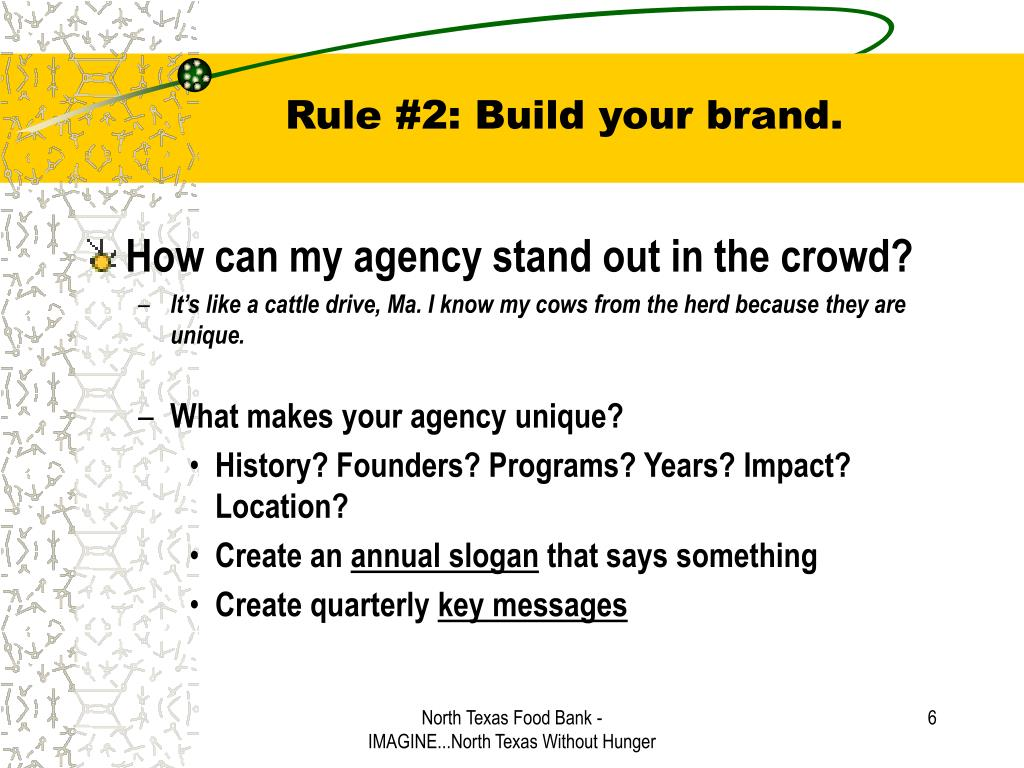 Rule #2: Build your brand.