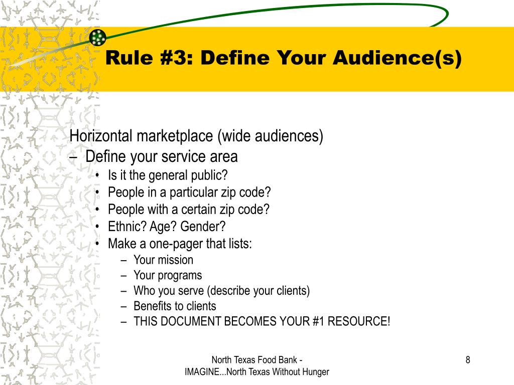 Rule #3: Define Your Audience(s)