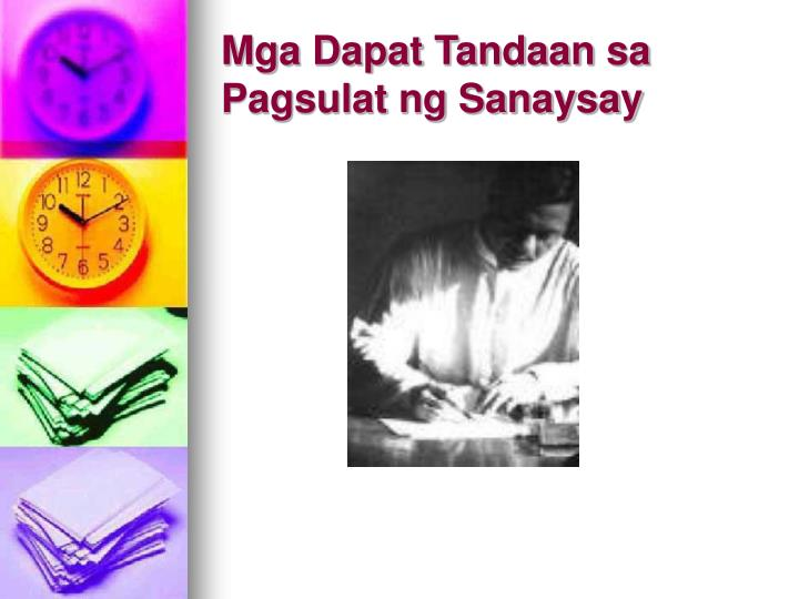 Mga Dapat Tandaan sa Pagsulat ng Sanaysay