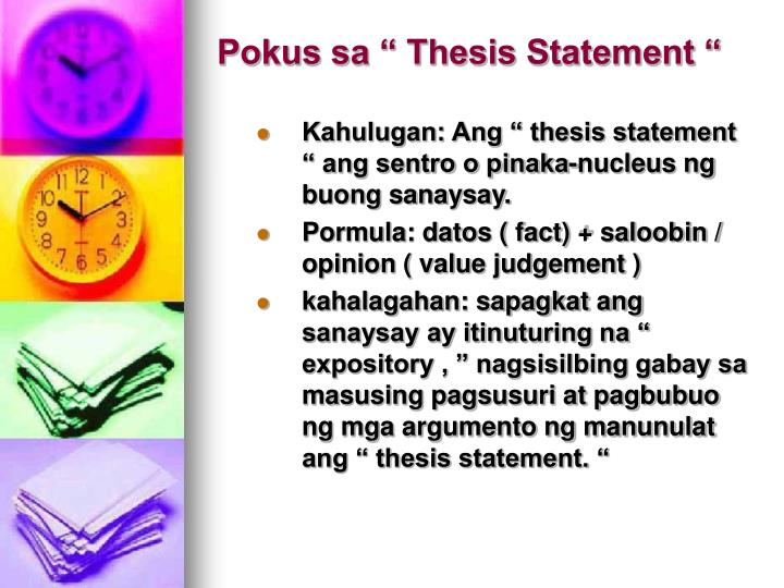 "Pokus sa "" Thesis Statement """