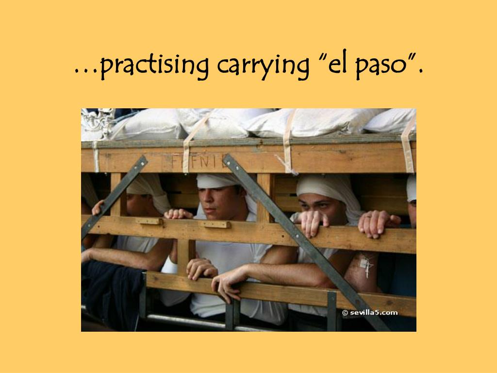 "…practising carrying ""el paso""."