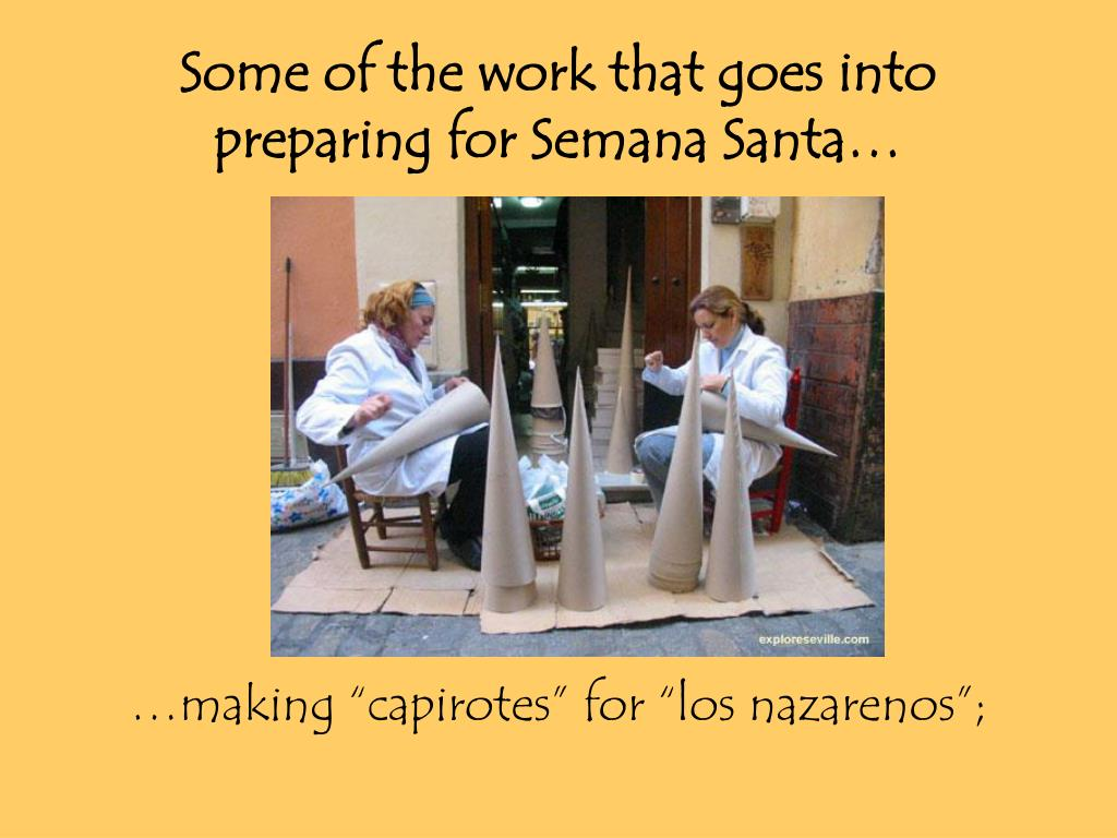 Some of the work that goes into preparing for Semana Santa…